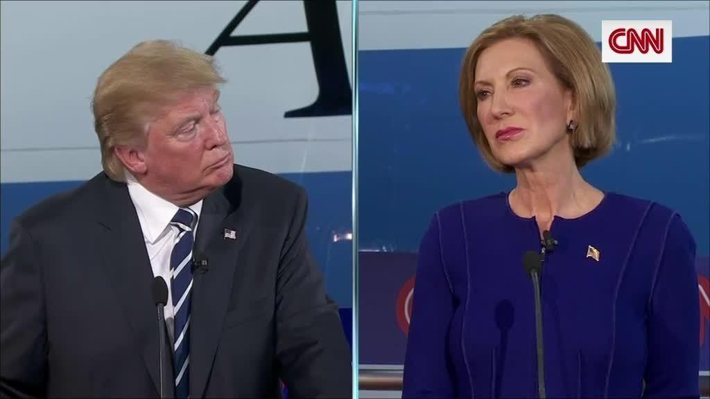 trump-fiorina-debate